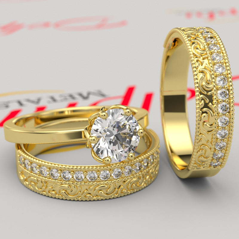 Gold Complete Wedding Set - 16GG95