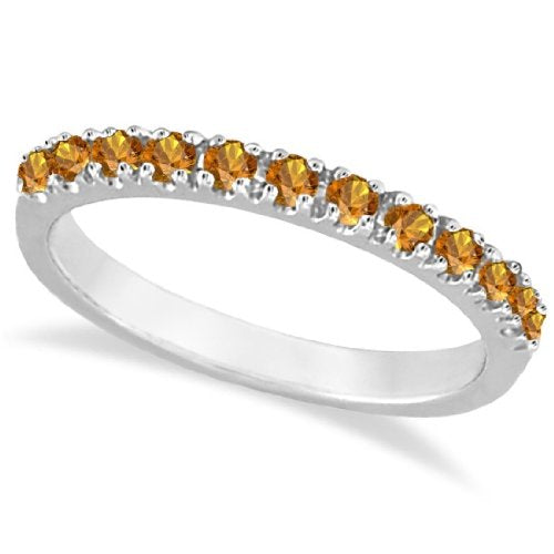 Citrine Stackable Band Anniversary Ring  - 17GG02