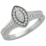14K White Gold Engagement Ring - 17GG30