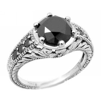 2.00ct Fancy-Black Diamond Ring - 17GG46
