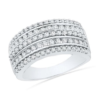 10KT White Gold Round Diamond Band - 17GG75