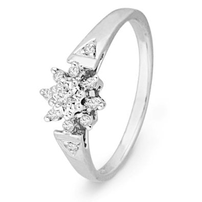 10KT White Gold Round Diamond Ring - 17GG77