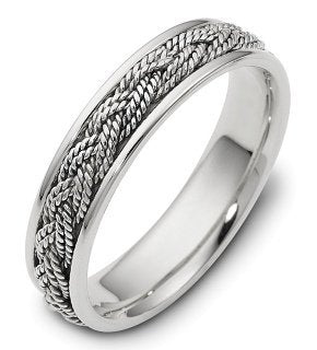 5mm Platinum Comfort Fit Wedding Band Ring - 17GG89