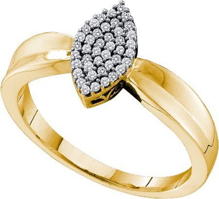 0.12ctw diamond micro pave Engagement Ring - 18GG03