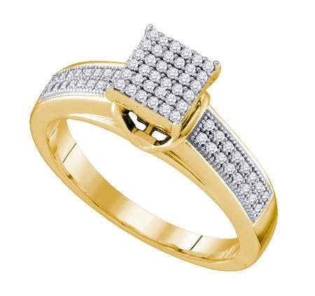 0.25ctw diamond micro pave ring - 18GG06