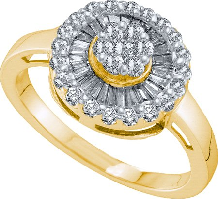0.69ctw diamond flower ring - 18GG09