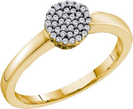 0.12ctw diamond micro-pave ring - 18GG14