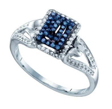 0.16ctw blue diamond fashion ring  - 18GG26