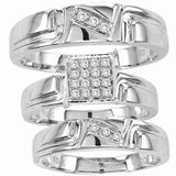 Diamond His and Hers Bridal Band Trio Set - 18GG40