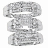Diamond His and Hers Bridal Band Trio Set - 18GG41