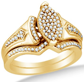 10k White OR Yellow Gold Ladies Womens Diamond Micro Pave Bridal Engagement Ring - 18GG43