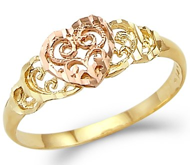 14k Yellow and Rose Gold Engagement Ring - 18GG60