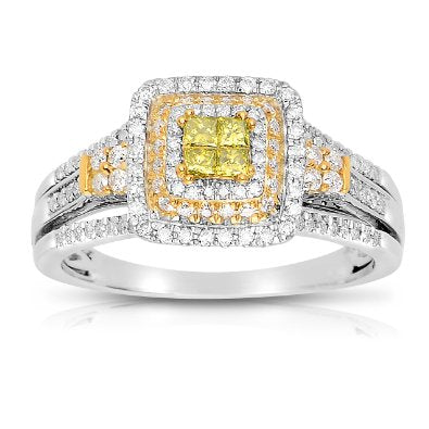 1/2 Ct Round Halo Diamond Engagement Ring - 18GG67