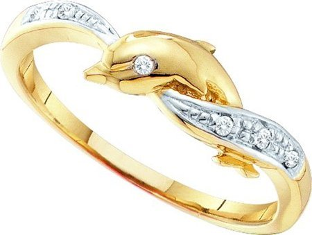 0.04ctw Diamond Dolphin Ring - 19GG18