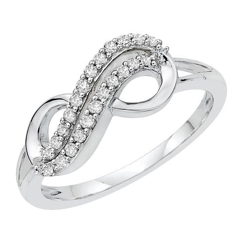 Two Row Infinity Diamond Ring - 19GG23