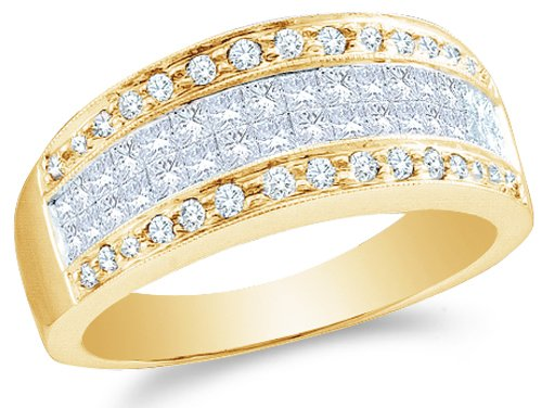 Gold Diamond Wedding Anniversary Band - 19GG47