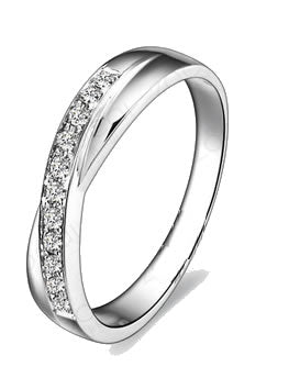 0.15 CT CERTIFIED H / SI DIAMOND WEDDING BAND 18k Gold - 19GG50