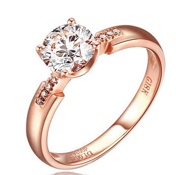 18k Rose Gold Engagement Ring - 19GG56