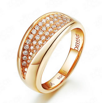 18K Rose gold Wedding Rings - 19GG58