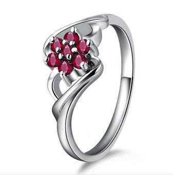 0.27ct Natural Ruby Engagement Ring - 19GG63