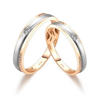 18k Gold Rings Couple Rings - 19GG66
