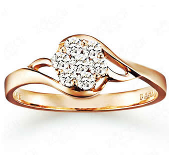 18k Gold Engagement Ring - 19GG82