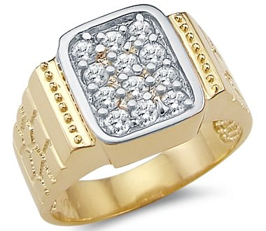 Yellow Gold Large Mens Ring - 20GG17