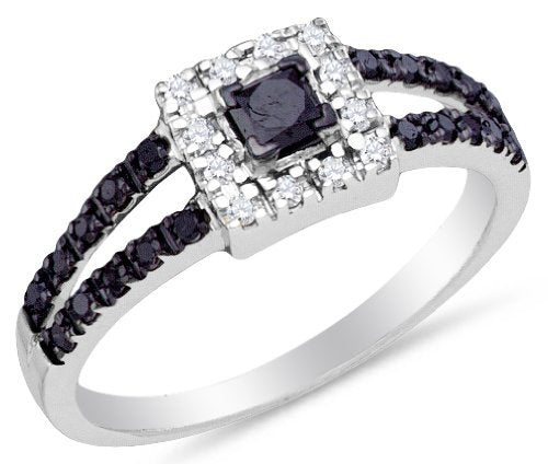 Black and White Diamond Engagement Ring OR Fashion Band - 20GG35
