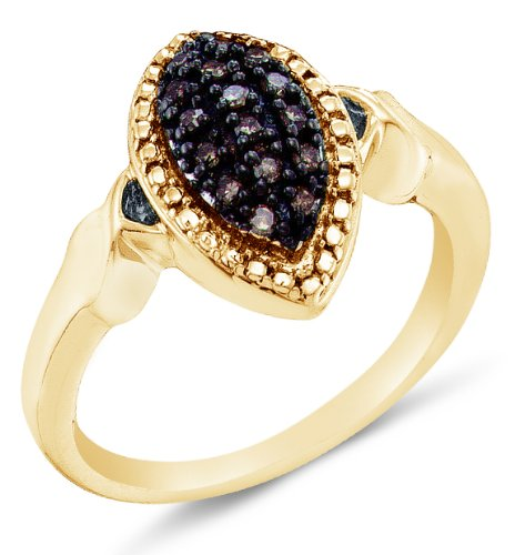 10K Yellow Gold Chocolate Brown Diamond Engagement - 20GG45