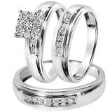 1/2 CT. T.W. Round Cut Diamond Wedding Set - 20GG58