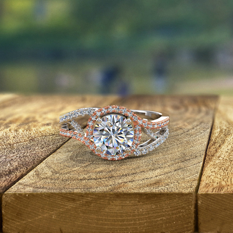 Two Tone Engagement Ring - 20GG97