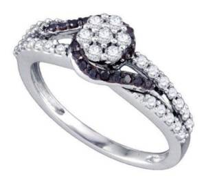 Diamond Crossover Twist Engagement Ring - 21GG18
