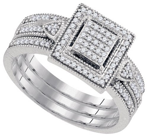DIAMOND MIRO-PAVE BRIDAL SET - 21GG23