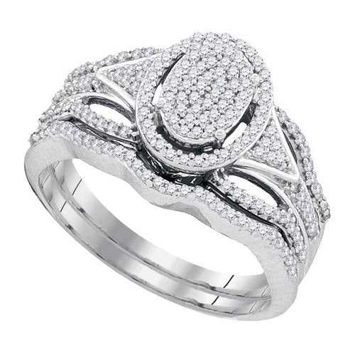 DIAMOND MIRO-PAVE BRIDAL SET - 21GG24