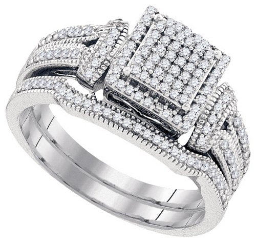 DIAMOND MIRO-PAVE BRIDAL SET - 21GG27