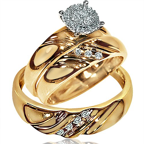His Her Wedding Rings Set  - 21GG37