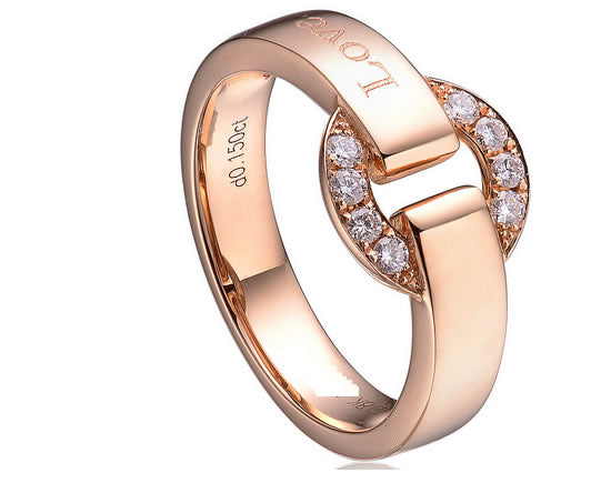 0.15 CT CERTIFIED H / SI ROUND CUT SOLID 18K ROSE GOLD DIAMOND ENGAGEMENT RING - 21GG44