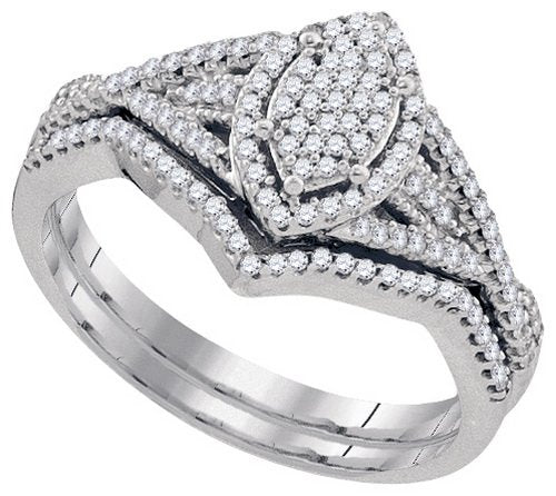 Diamond Miro-Pave Bridal Set - 21GG74