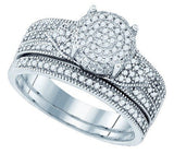 0.50 Carat Round Micro-Pave Diamond Bridal Set - 21GG77