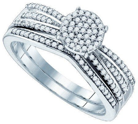 0.33 Carat Round Diamond Bridal Set - 21GG80