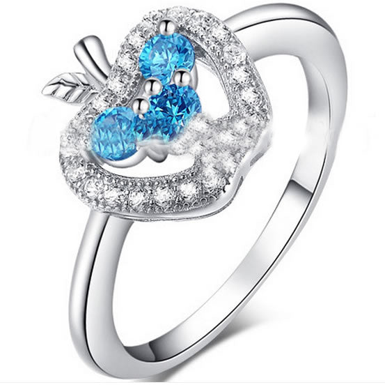 Blue Topaz Apple Ring - 21GG88