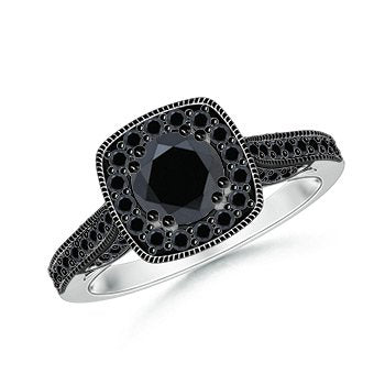 Black Diamond Engagement Ring - 22GG16