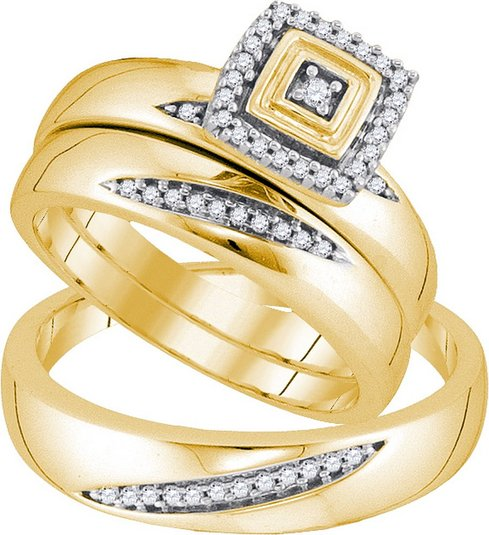 Diamond Wedding Set - 22GG30