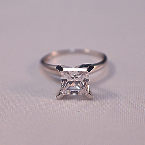Princess Cut Solitare Engagement Ring in 14K Gold - 24GG25