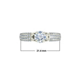 1.4ct Round Diamond Gold Engagement Ring - 27GG05