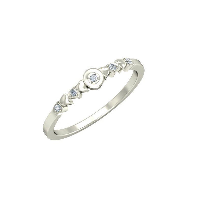 0.05ct Round Diamond Gold Engagement Ring - 27GG07