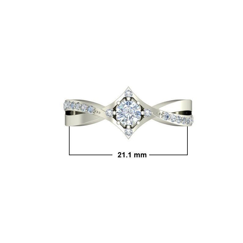 0.7ct Round Diamond Gold Engagement Ring - 27GG08