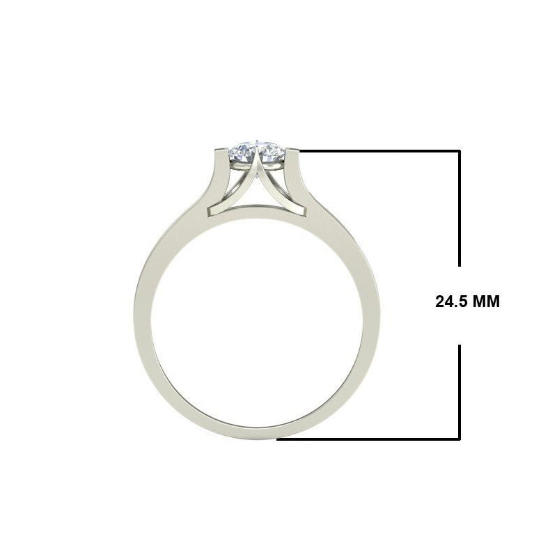 0.7ct Round Diamond Gold Engagement Ring - 27GG09