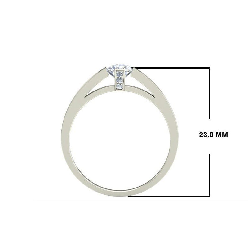 0.75ct Round Diamond Gold Engagement Ring - 27GG10