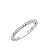 0.21ct Round Diamond Gold Wedding Band - 27GG11